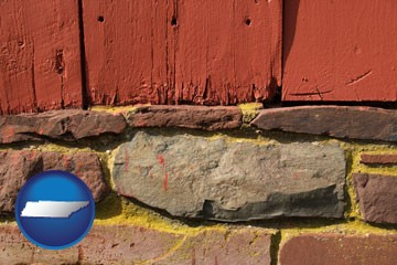 wooden barn siding - with Tennessee icon