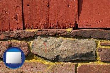 wooden barn siding - with Wyoming icon